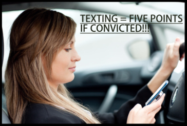 Texting = five point